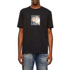 חולצת T דיזל לגברים DIESEL Photo Print - שחור