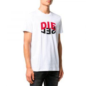 חולצת T דיזל לגברים DIESEL T-Diegos N22 - לבן