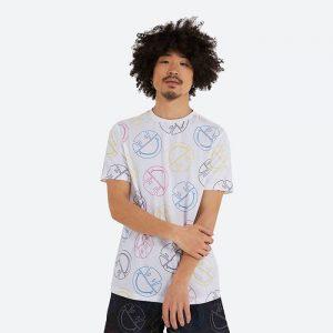 חולצת T אלסה לגברים Ellesse x Smiley Merilino - לבן