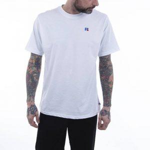 חולצת T ראסל אתלטיק לגברים Russell Athletic GREAT - לבן