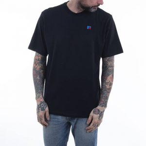 חולצת T ראסל אתלטיק לגברים Russell Athletic GREAT - שחור