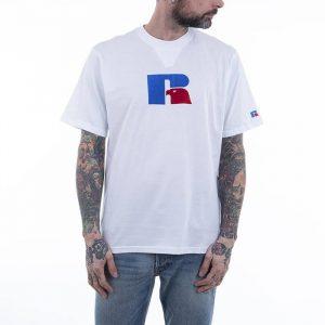 חולצת T ראסל אתלטיק לגברים Russell Athletic GREAT - לבן הדפס