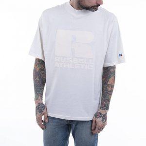 חולצת T ראסל אתלטיק לגברים Russell Athletic Crewneck - לבן הדפס