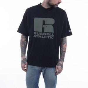 חולצת T ראסל אתלטיק לגברים Russell Athletic Crewneck - שחור הדפס