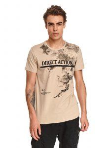 חולצת T טופ סיקרט לגברים TOP SECRET Action - בז'