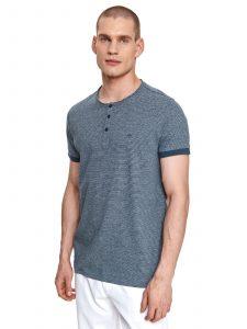 חולצת T טופ סיקרט לגברים TOP SECRET Buttons - כחול כהה
