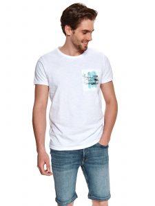 חולצת T טופ סיקרט לגברים TOP SECRET CITY - לבן