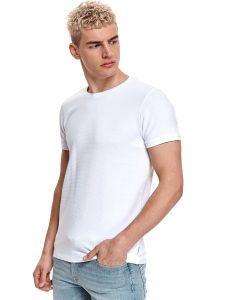 חולצת T טופ סיקרט לגברים TOP SECRET Clean - לבן
