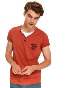 חולצת T טופ סיקרט לגברים TOP SECRET Clockwork - אדום