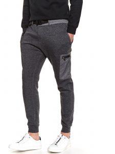 מכנסיים ארוכים טופ סיקרט לגברים TOP SECRET DARK - אפור כהה