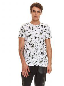 חולצת T טופ סיקרט לגברים TOP SECRET Dots - לבן