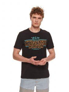 חולצת T טופ סיקרט לגברים TOP SECRET Drinks - שחור