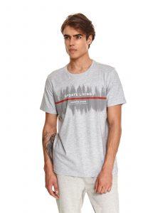 חולצת T טופ סיקרט לגברים TOP SECRET ECG - אפור בהיר