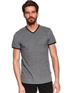 חולצת T טופ סיקרט לגברים TOP SECRET GRYBL - אפור
