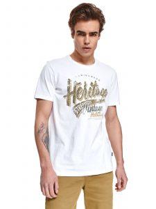 חולצת T טופ סיקרט לגברים TOP SECRET HERITAGE - לבן