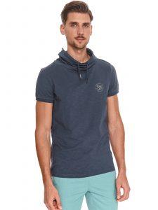 חולצת T טופ סיקרט לגברים TOP SECRET HOODIT - כחול כהה