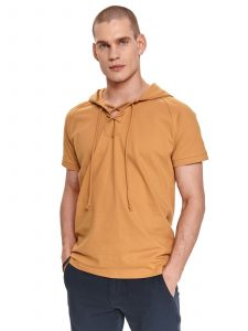 חולצת T טופ סיקרט לגברים TOP SECRET HOODIT - צהוב