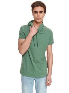 חולצת T טופ סיקרט לגברים TOP SECRET HOODIT - ירוק כהה