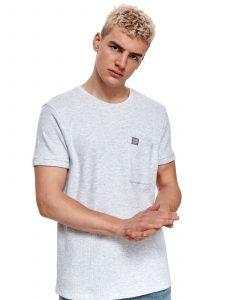 חולצת T טופ סיקרט לגברים TOP SECRET JUSTONE - אפור בהיר