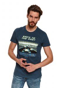 חולצת T טופ סיקרט לגברים TOP SECRET MEGASON - כחול כהה
