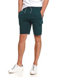 מכנס ברמודה טופ סיקרט לגברים TOP SECRET Mark - ירוק כהה