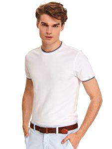 חולצת T טופ סיקרט לגברים TOP SECRET Smooth - לבן