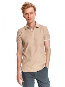 חולצת T טופ סיקרט לגברים TOP SECRET Stripes - בז'