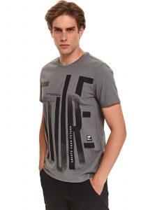 חולצת T טופ סיקרט לגברים TOP SECRET Sture - אפור
