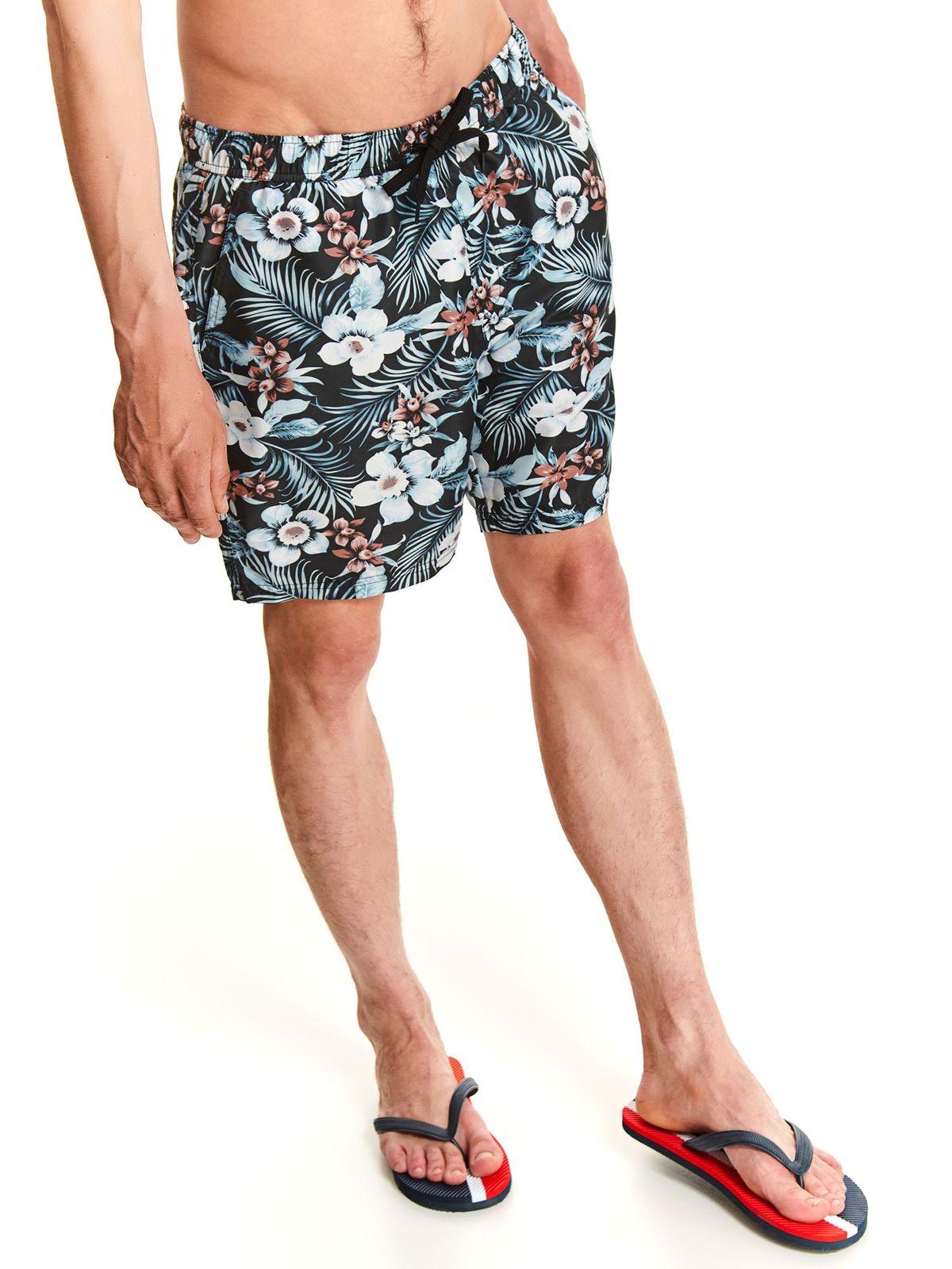 בגד ים טופ סיקרט לגברים TOP SECRET flowers - כחול כהה