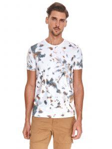 חולצת T טופ סיקרט לגברים TOP SECRET stain - לבן