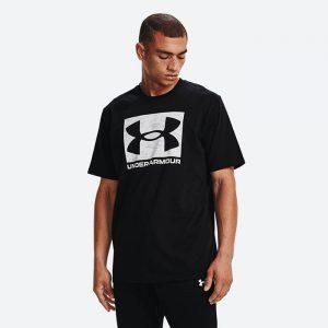 חולצת T אנדר ארמור לגברים Under Armour Camo Boxed Logo SS - שחור