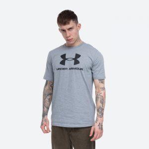 חולצת T אנדר ארמור לגברים Under Armour Sportstyle Left Chest - אפור