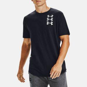 חולצת T אנדר ארמור לגברים Under Armour Triple Stack Logo Ss - שחור