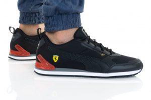 נעלי סניקרס פומה לגברים PUMA FERRARI TRACK RACER - שחור