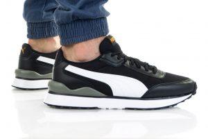 נעלי סניקרס פומה לגברים PUMA R78 FUTR DECON - שחור/לבן