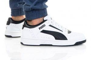 נעלי סניקרס פומה לגברים PUMA REBOUND JOY LOW - לבן/שחור