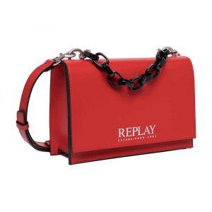 תיק ריפליי לנשים REPLAY LOGO - אדום