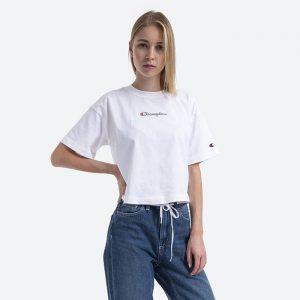 חולצת T צ'מפיון לנשים Champion Crop Top - לבן