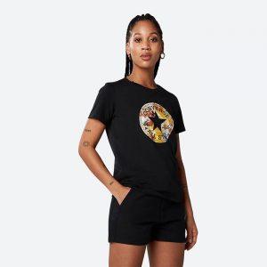 חולצת T קונברס לנשים Converse Festival Print Chuck - שחור