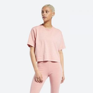 חולצת T ריבוק לנשים Reebok Cl Rbk Nd - ורוד
