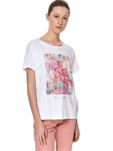 חולצת T טופ סיקרט לנשים TOP SECRET Art - לבן