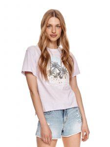 חולצת T טופ סיקרט לנשים TOP SECRET CALI - סגול בהיר