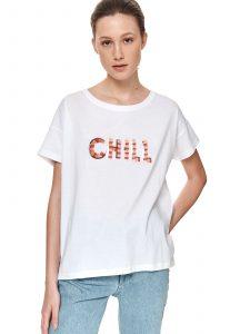 חולצת T טופ סיקרט לנשים TOP SECRET CHILL - לבן