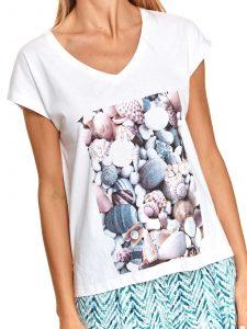 חולצת T טופ סיקרט לנשים TOP SECRET Coral - לבן
