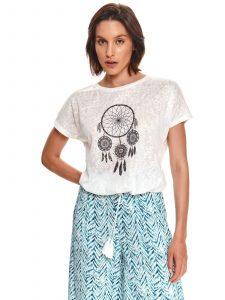 חולצת T טופ סיקרט לנשים TOP SECRET Dream - לבן