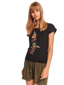 חולצת T טופ סיקרט לנשים TOP SECRET FLY - שחור