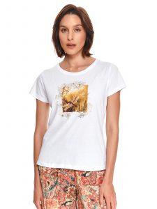 חולצת T טופ סיקרט לנשים TOP SECRET Life - לבן