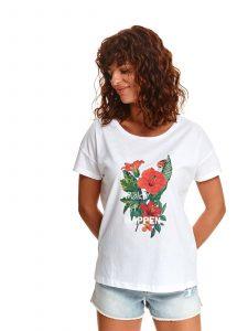 חולצת T טופ סיקרט לנשים TOP SECRET MakeIt - לבן