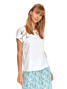 חולצת T טופ סיקרט לנשים TOP SECRET Ocean - לבן
