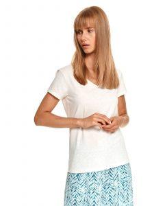 חולצת T טופ סיקרט לנשים TOP SECRET Smooth - לבן